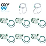 OXY99 Pack of 6 Oxygen Nebulizer face mask with 2 Cannula mask