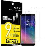 NEW'C 2 Pezzi, Vetro Temperato Compatibile con Samsung Galaxy A6 Plus (2018), Pellicola Prottetiva Anti Graffio, Anti-Impront