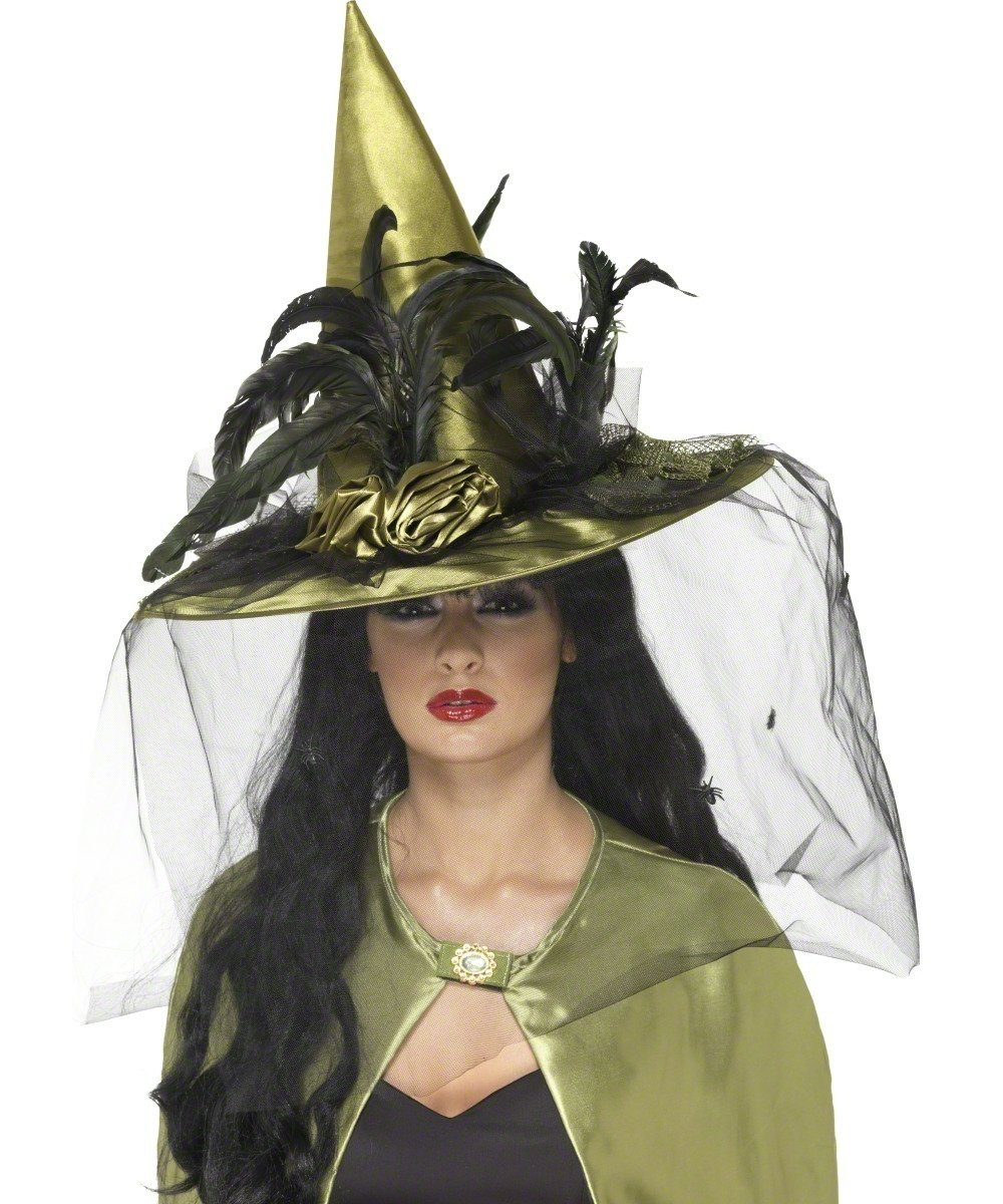 Smiffy's Deluxe Witch Hat - Black: Smiffy's: Amazon.co.uk: Toys ...