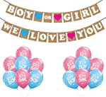 Party Propz Baby Shower Combo of Kids We Love You Banner with Balloon for Decoration