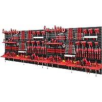Mur à outils - 2304 x 780 mm - Lot de 116 porte-outils avec panneau perforé - Système de stockage mural - Étagère murale…