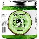 Maschera Purificante Idratante Gel Viso Kiwi e Cetriolo Anti-Age Imperfezioni Vegan Acido Ialuronico Boost Collagene Ingredie