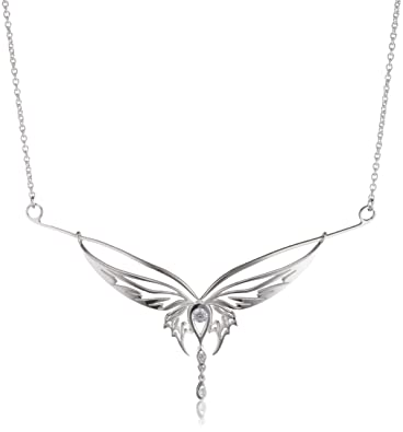 Lord of the rings elvish collier butterfly 925 sterling silver lord of the rings elvish collier butterfly 925 sterling silver cubic zirconia of chain length 46 cm amazon jewellery aloadofball Gallery