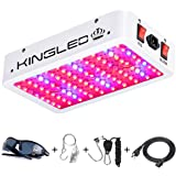 KingLED King Plus 1000W Double Chips Full Spectrum LED Grow Light with UV and IR for Greenhouse Indoor Plant Veg and…
