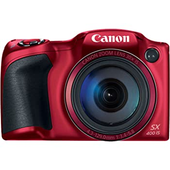 Canon PowerShot SX400 Digital Camera with 30x Optical Zoom (Red)