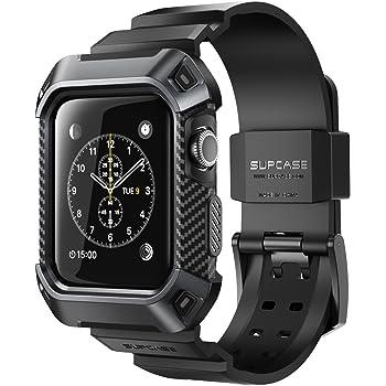 Apple Watch 3 case, Supcase [Unicorn Beetle Pro] custodia resistente con fasce da polso per Apple Watch Series 3 2017 Edition [42 mm, compatibile con Apple Watch 42 mm 2015 2016]