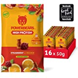 Powerbeärs High Protein Sugarfree Strawberry and Orange   Protein Rich Fruit Gummies (16x50g)