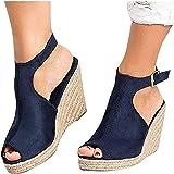 FRAUIT Scarpe Donna Eleganti Decollete Leopardate Con Cinturino Sandali della Cintura della Caviglia Sandali Ragazza Elegante