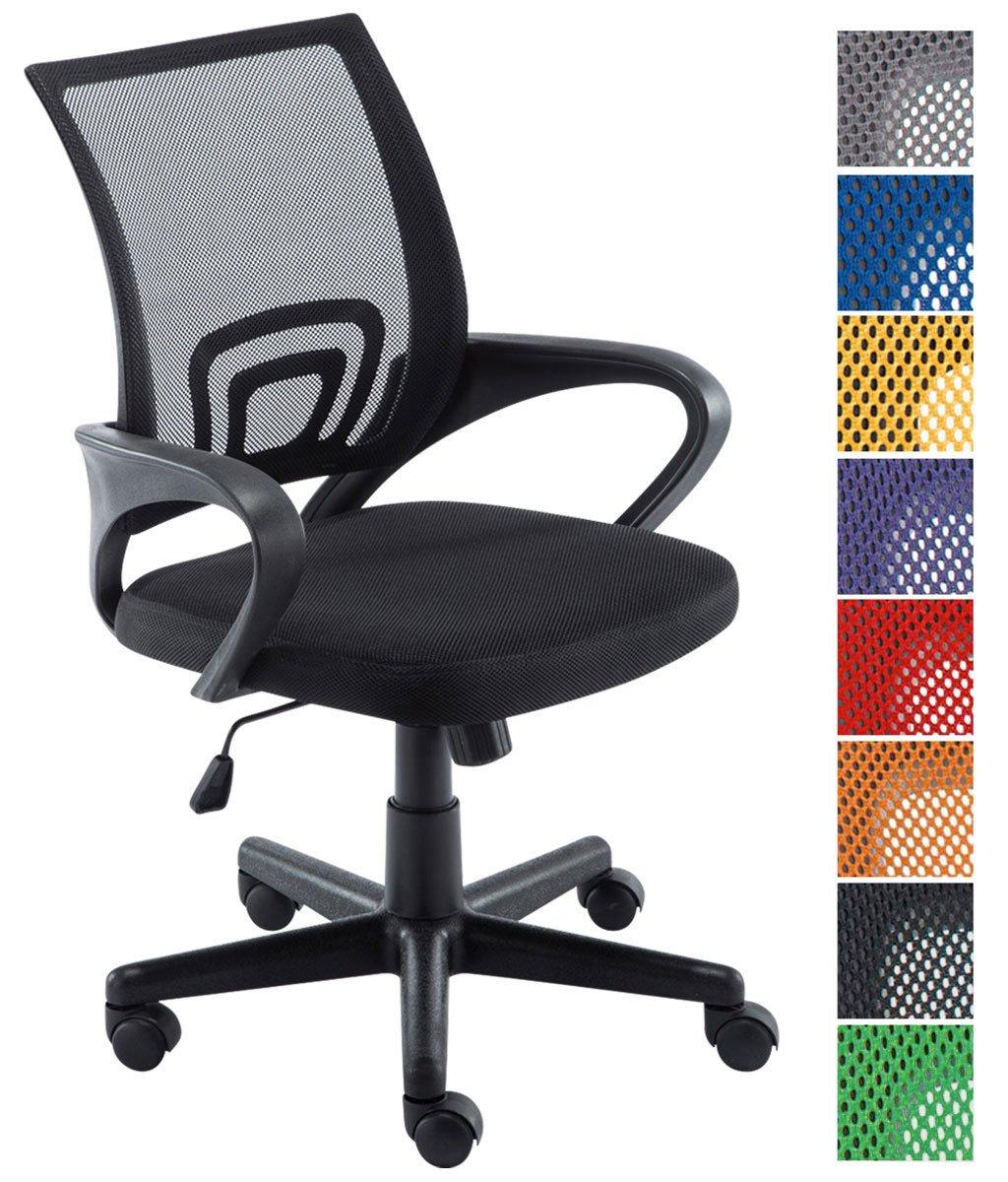CLP Silla de escritorio GENIUS. Silla giratoria con altura regulable. Asiento acolchado y con tapizado con tela en red transpirable. Disponible en diferentes colores.