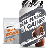 Bigmuscles Nutrition Real Mass Gainer [1Kg, Chocolate]   Lean Whey Protein Muscle Mass Gainer, Complex Carbohydrates, 1000 Ca