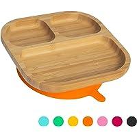 Tiny Dining Piccoli è Possibile pranzare e Bambini di bambù Cena Piatto con restare aspirazione - segmentato - Arancione
