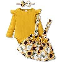 ZOEREA Ensemble de Vêtements pour Bébé Fille 0-18 Mois 3 Pièces Nouveau-né Enfants Robe Tenues Set Mode Manches Longues…