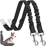 Cinturón de Seguridad de Coche para Perros, Cinturón Perro Coche con elástico y Fuerte mosquetón, Universal para trasportar M