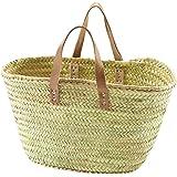 Kobolo Trendige Ibizatasche aus Palmblatt