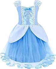 AmzBarley Principessa Cinderella Vestire Costume per bambini Ragazze Halloween Cosplay Festa