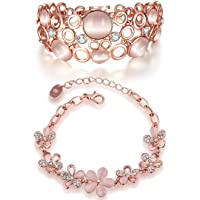 YouBella Jewellery Designer Crystal Combo of Bracelets for Women Bangles Jewellery for Girls and Women