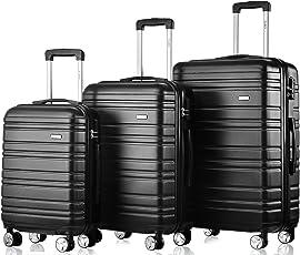 Flieks Hartschale Trolley Koffer Reisekoffer mit Zwillingsrollen mit Zahlenschloss Handgepäck 35/63/85 Liter