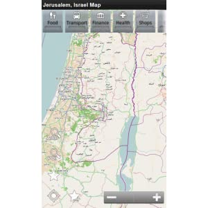 Jerusalem, Israel Offline-Landkarte: PLACE STARS: Amazon.de: Apps ...