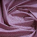 Stoff Baumwolle Acryl Mille Fleurs brombeer beschichtet