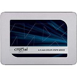 Crucial MX500 1TB CT1000MX500SSD1 SSD Interno-fino a 560 MB/s, 3D NAND, SATA, 2.5 Pollici, Metallico
