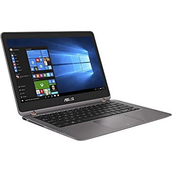"Asus UX360UAK-DQ210T ZenBook Flip Portatile, Display 13.3"", Intel Core i7-7500U, RAM 8 GB, SSD 512 GB, Intel Graphics 620, Grigio"