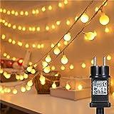 Guirlande Boule Lumineuse de fées à LED à l'intérieur, Bigzom 13m 100 LED Guirlande Boule Lumineuse 8 Modes IP44 étanche Guir