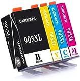 Wewant Cartuccia d'inchiostro 903XL Compatibile In sostituzione di HP 903 XL Multipack per HP Officejet 6950 Officejet Pro 6950 6960 6970 (1 Nero, 1 Ciano, 1 Magenta, 1 Giallo)