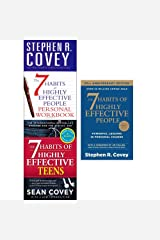 7 habits 3 books collection  set -  7 habits of highly effective people ,Teenagers, and personal workbook for people Paperback