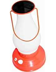 arythe Signature Rechargeable Lantern Charging from USB Cable Mobile Charger and Sun Light Solar with Night Lamp Option (Red)