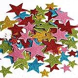 Naler Glitzer Sticker Selbstklebend Stern & Herz Aufkleber für Dekoration (190 Stück)