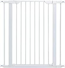"Midwest 39"" High Walk-Thru Steel Pet Gate, 29"" - 38"" Wide in Soft White"