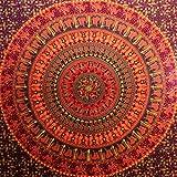 Indian Hippie Mandala Tapestry, Camel Elephant Tapestry hippie tapestry Wall Hanging Cotton Single Bedsheet, Tapestries Bedspread