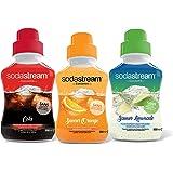 Sodastream Lot de 6 Concentrés Sirops Soda Cola, Limonade et Orange pour Machine à Soda