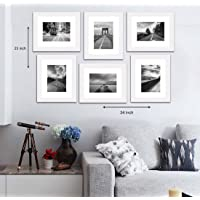 """Painting Mantra Decorative Premium Set of 6 Individual Wall Photo Frame (8"""" X 10"""" Picture Size matted to 6"""" x 8…"""