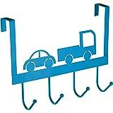 Premier Housewares haakstrip deurgarderobe, blauw, ijzer, 11x31x23