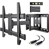 Support Mural TV Perlegear pour écrans 37-75 Pouces LED LCD Plasma et courbé Support TV Inclinable et orientable avec…