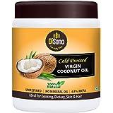 Disano Cold Press Virgin Coconut Oil, Wide Mouth Jar, 500 ml