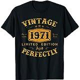 50 Ans Anniversaire Homme Femme Humour Cadeau Millésime 1971 T-Shirt