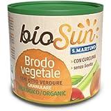 BIOSUN - Brodo Vegetale Granulare Biologico di Verdure, con 8 Verdure Selezionate e Curcuma, 1 Barattolo da 120 gr, Sena…