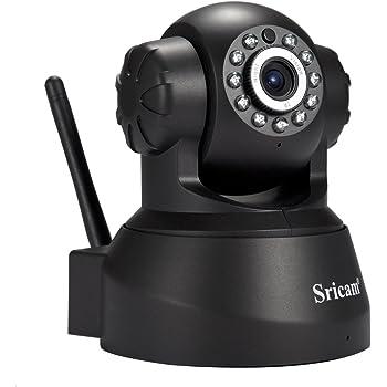 Sricam SP012 Telecamera di Sorveglianza IP camera 1280*720p HD Wifi Wireless, Audio Bidirezionale, Visione Notturna, Motion Detection, Allarme via email, Monitorare Tramite APP, Supporta MicroSD Fino a 128GB, Compatibile con iOS e Android e PC Windows