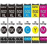 Kamo 502XL Cartucce Multipack Compatibile con Epson 502 502XL Cartuccia d'inchiostro; Expression Home XP-5100, XP-5105; Workf