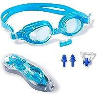 Lunettes de natation pour enfants - Étanche Anti-buée Lunettes de natation pour enfants Protection UV Cadre en silicone…
