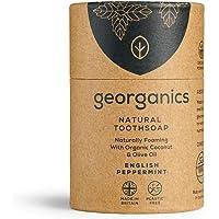 Georganics - Sapone Dentale Sbiancante Bio – Sapone da Denti Naturalmente Schiumogeno con Olio di Cocco Vergine Bio…