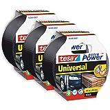 tesa extra Power Universal - Vävförstärkt tejp för reparation, fästning, buntning, förstärkning eller tätning av både släta o