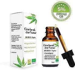 Geschenk der Natur Bio 5% Premium Öl CB Aktivator, Produziert in Östereich, BIO Zertifiziert (CB5)