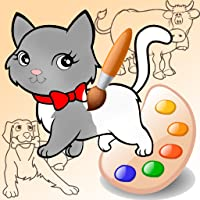 Funny Animals. Drawing and coloring Pets. Preschool for Kids