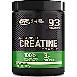 Optimum Nutrition Micronised Creatine Monohydrate, Créatine Monohydrate Micronisé en Poudre, Non Aromatisé, 93 Portions, 317g