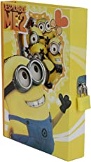 Asera Minion diary with Lock Case for Kids Gifts options - Minion Lock Diary in Yellow Colour
