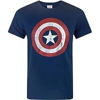 Marvel Maglietta per Uomo Capitan America