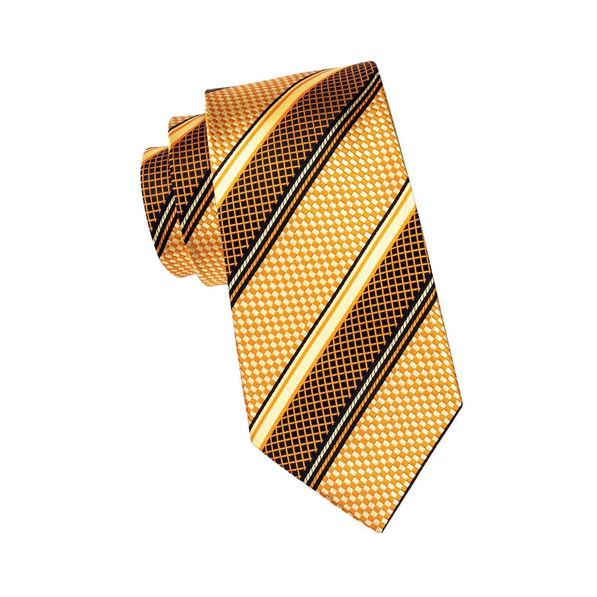 Hi-Tie Cravatta classica da uomo con gemelli e pochette - Girls like you 85fefe1983f